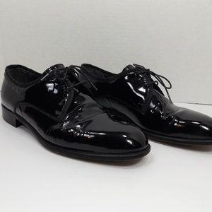 Vito Rufolo Mens Black  Leather Patent Shoes 9.5 M